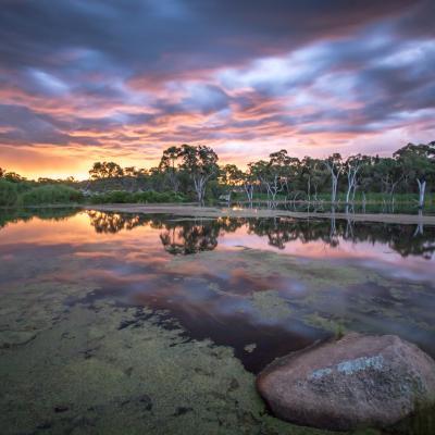 Couché de soleil et tempête nocturne Stanthorpe - Queensland Australie